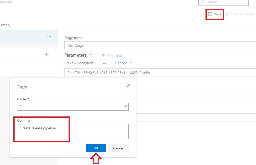 Azure DevOps - Creating release pipeline Step 6
